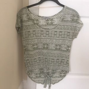 Tie front tribal shirt